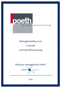 Management buy-out Poeth 2018